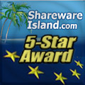 5 Stars from SharewareIsland.com